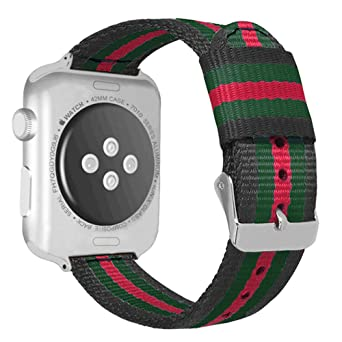 39e4f8f816e Autulet for Colorful Apple Watch Band 42mm 44mm Nylon Watch Straps for  Iwatch Bands Cancas Perlon