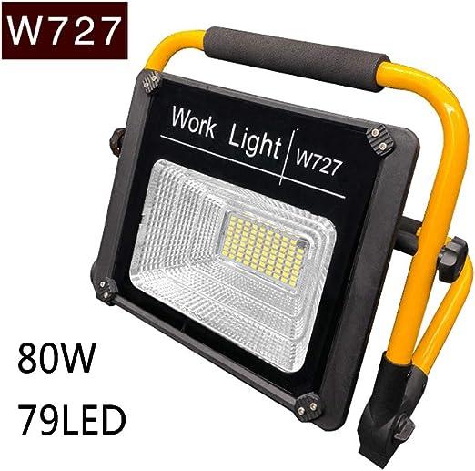 dami Foco LED Proyector, Camping 80W, Lámpara Proyector 79LED, Luz ...