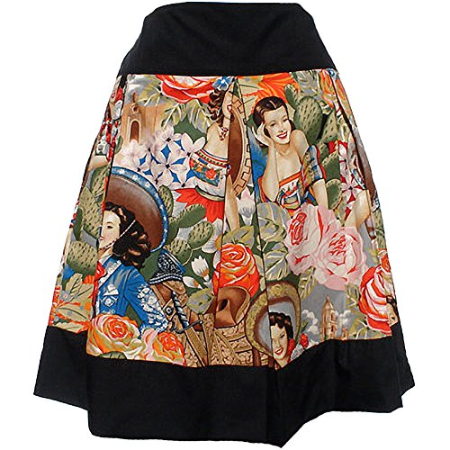 Women's Hemet Mexican Senoritas Inspired Skirt S