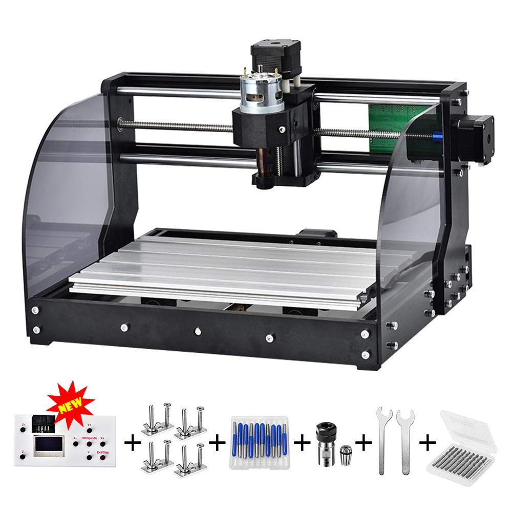 CNC 3018pro-M DIY Mini CNC Machine, Latest 3 Axis Wood Router Used As Laser Engraving Milling Machine For Metal Pcb Milling Machine Wood Router Laser Engraving (3018 PRO M) by Uttiny