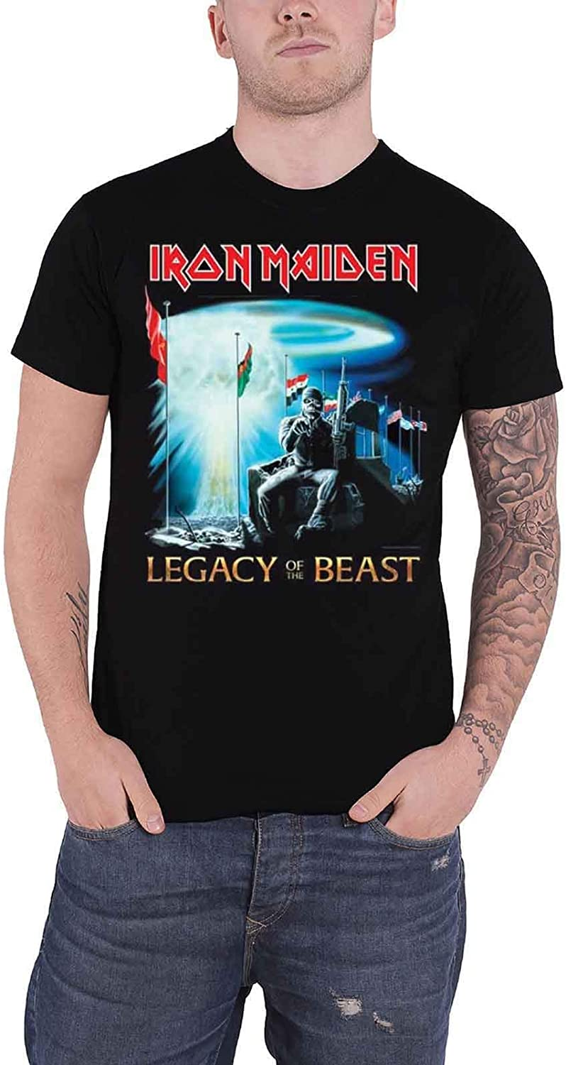 Iron Maiden T Shirt Two Minutes To Midnight Legacy of The Beast Oficial: Amazon.es: Ropa y accesorios