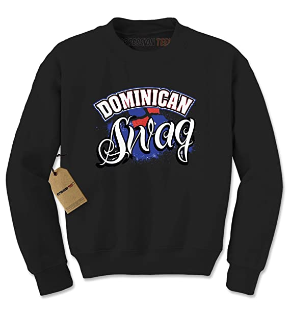 8f13d2604869 Amazon.com  Expression Tees Dominican Swag Crewneck Sweatshirt  Clothing