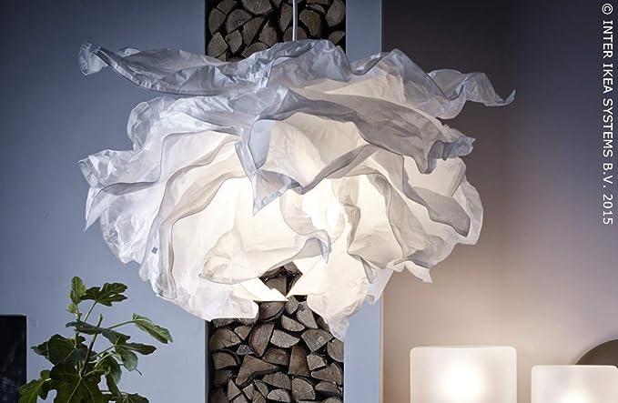 Ikea Krusning Hangeleuchtenschirm In Weiss 85cm Amazon De Beleuchtung