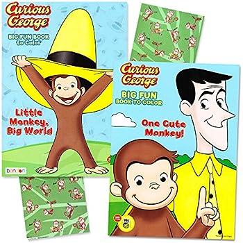 80off curious george coloring book super set 2 jumbo coloring books with - Curious George Coloring Books