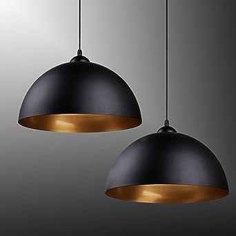 Industrielle Vintage LED Pendelleuchte Hängeleuchte Φ 30cm Für E27  Leuchtmittel, Schwarz Und Weiß Wählbar,