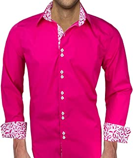 product image for Men's Pink Breast Cancer Dress Shirts - Made in USA