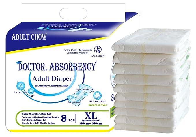 Doctor Absorbencia para adultos incontinencia ajustable pañales de gran absorción ultra breve pañales: Amazon.es: Salud y cuidado personal