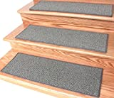 Dog Assist Carpet Stair Treads / Color: Taupestone / Size: 9'' x 27'' (set of 13) Includes 1 roll of double Sided Carpet Tape for Easy Do-it-Yourself Installation