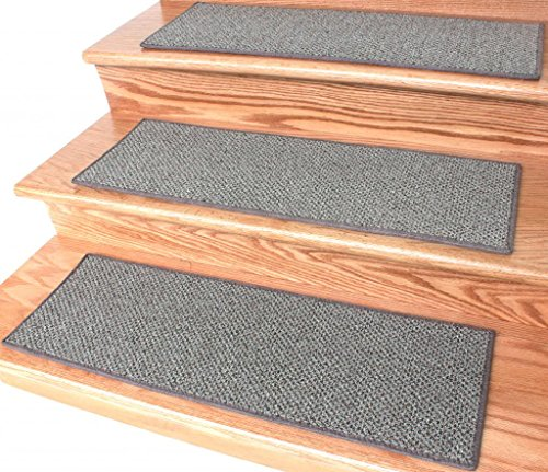 Dog Assist Carpet Stair Treads / Color: Taupestone / Size: 9'' x 27'' (set of 13) Includes 1 roll of double Sided Carpet Tape for Easy Do-it-Yourself Installation by Puppy Treads
