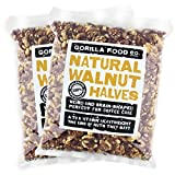 Premium California Walnut Halves (Fresh Crop-Halves Only) Raw - 2 Packs (1 Pound each) Resealable Bags