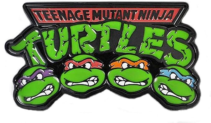 Teenage Mutant Ninja Turtles 4 Characters Enamel Finish Metal Belt Buckle