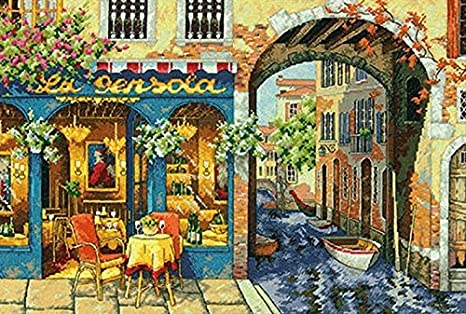 Charming Waterway Dimensions Crafts The Gold Collection Counted Cross Stitch Kit