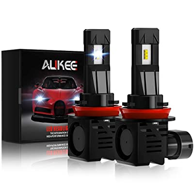 Aukee H11 LED Headlight Bulb, H8 H9 12000Lm 6000K 60W Extremely Bright All-in-One Conversion Kit: Automotive