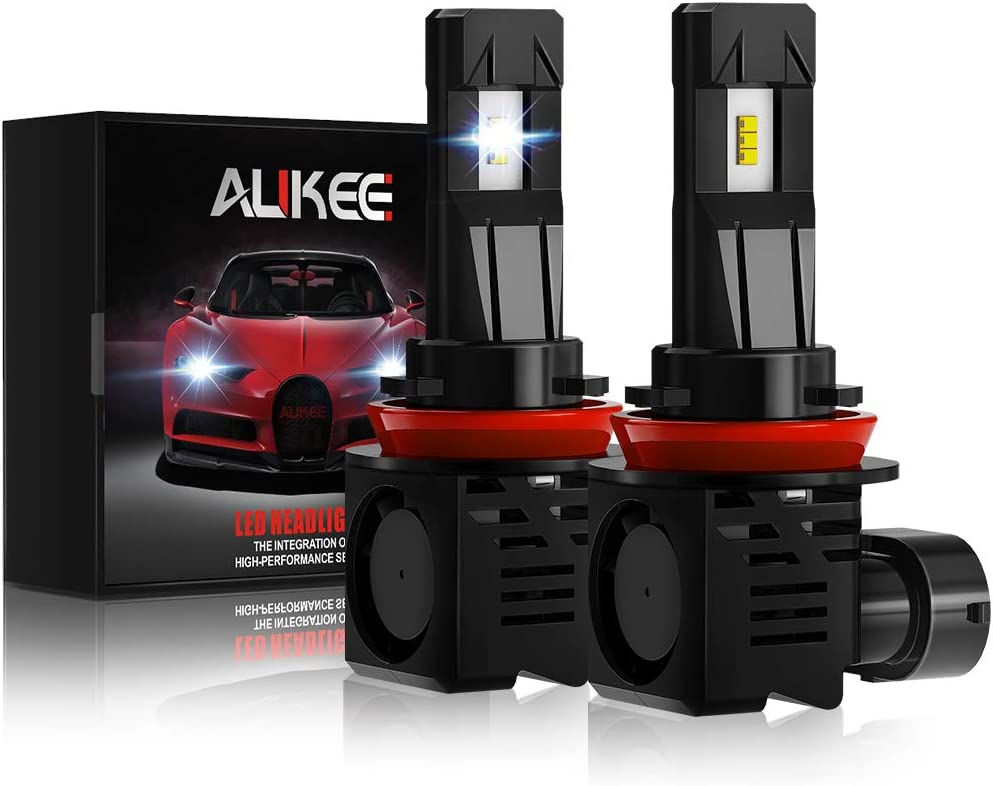 Aukee H11 LED Headlight Bulb, H8 H9 12000Lm 6000K 60W Extremely Bright All-in-One Conversion Kit