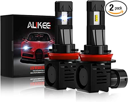 Aukee H11 LED Bulbs 50W 6000K 10000 Lumens Extremely Bright H8 H9 CSP Chips Headlight Conversion Kit