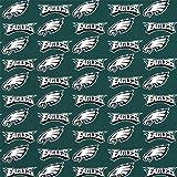 lovemyfabric Philadelphia Eagles 100% Cotton NFL Sports Teams Window Valance/Kitchen Bedroom Nursery Kids Room Window Decor (multi print) (14″ Tall)