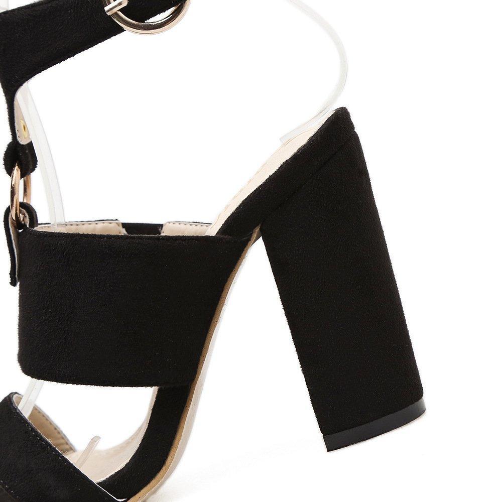 ZHZNVX Im Frühjahr die neue Satin Matt Metall mit mit mit hoch dekoriert - Sandaletten d2c3fc