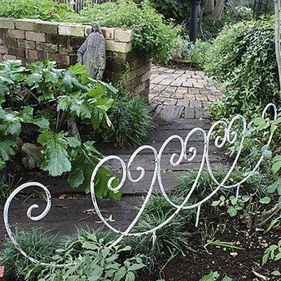 花壇 ミニフェンス アイアンフェンス Y型 アンティークホワイト 4枚組 150×57.5cm B00SSVE9D2 10152