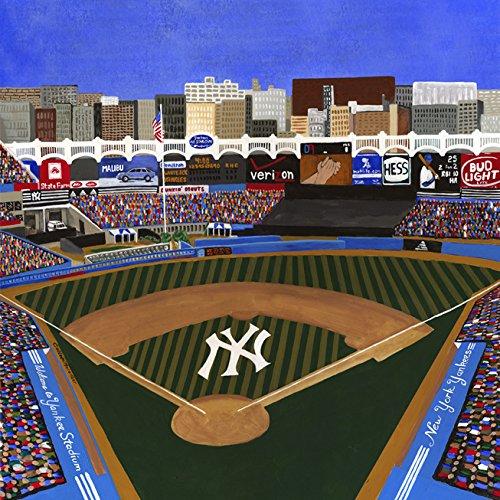 Ceramic Tile Coaster - New York Baseball, New York Baseball Stadiums - New York Sports teams - Yankee Stadium - Sports Team Stadium Series - Ceramic Tile - Ceramic Coaster - Decorative Art Work