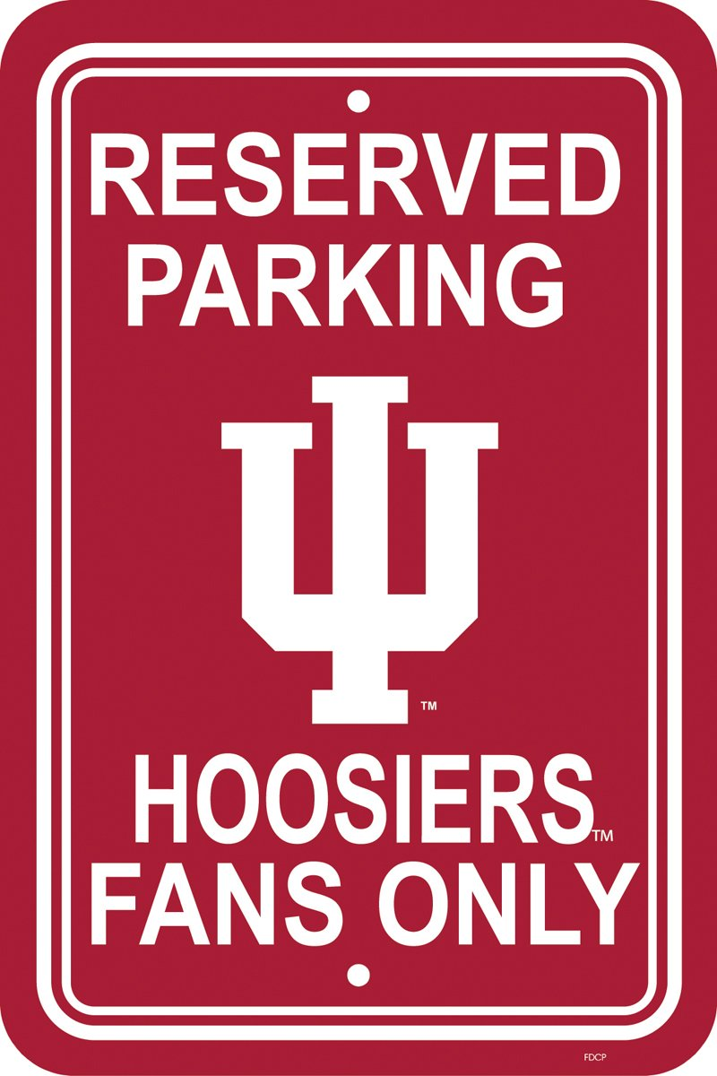 NCAA Indiana Hoosiers 12-by-18 inch Plastic Parking Sign
