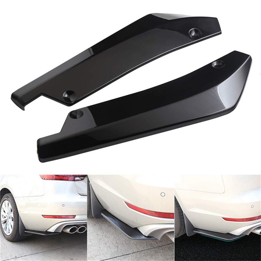 Konesky 4PCS Car Front Bumper Body Spoiler Canards Universal ABS Carbon Fiber Spoiler Canards Trim Kit