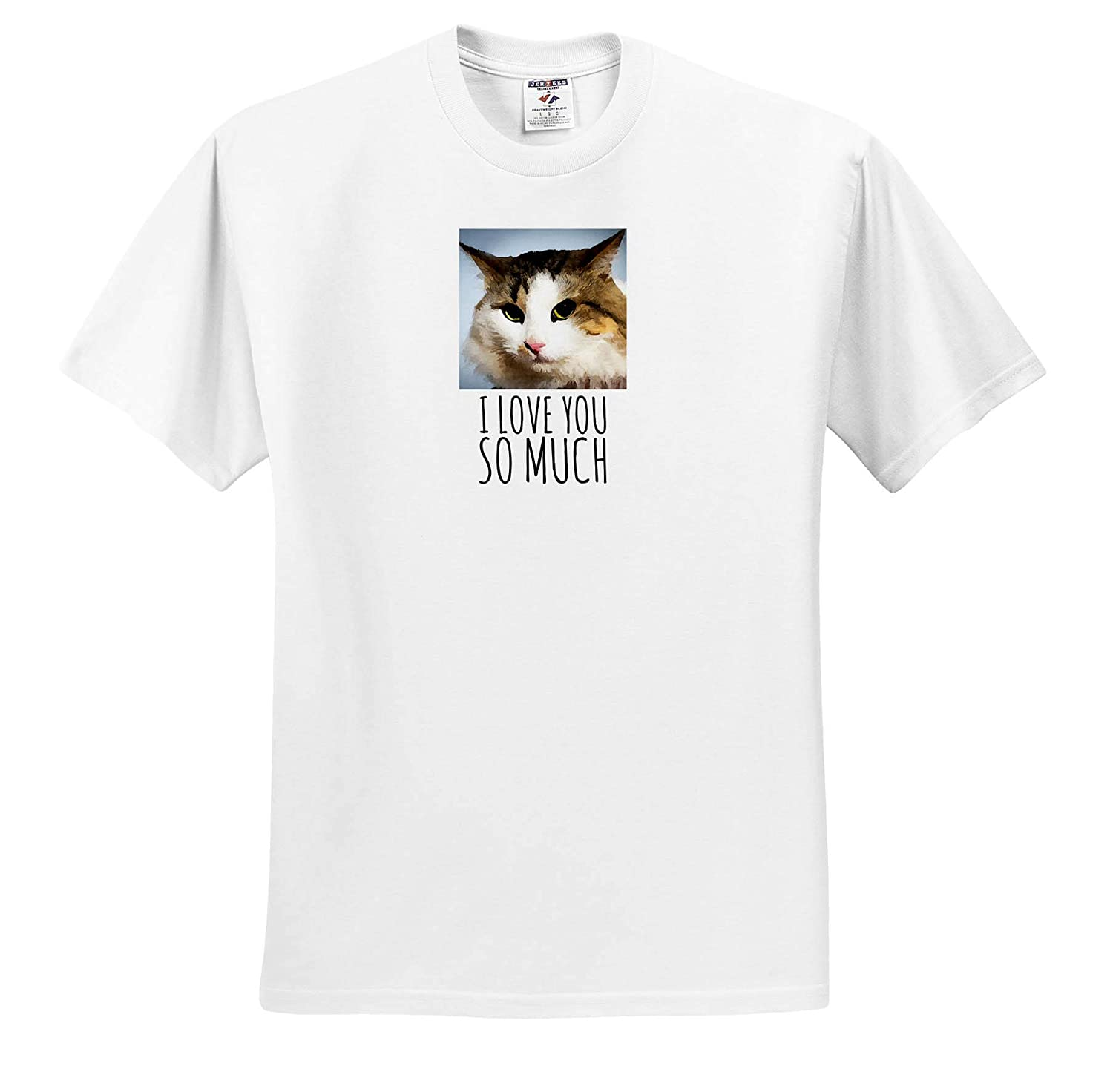 ts/_310494 Animals Cats Adorable Elegant cat Adult T-Shirt XL 3dRose Alexis Photography I Love You so Much