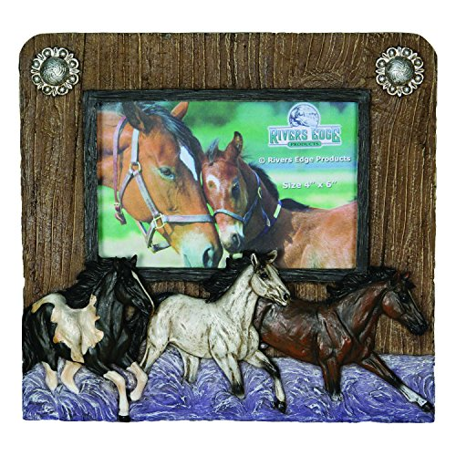 River's Edge Horses 4x6 Picture Frame Horizontal