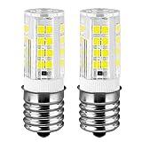 KINDEEP Ceramic E17 LED Bulb for Microwave Oven Appliance, 40W Halogen Bulb Equivalent, Daylight White 6000K, Pack of 2