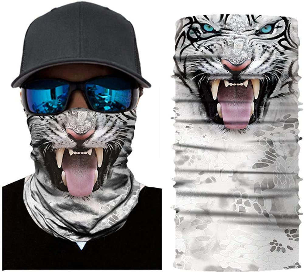Unisex Multifunction 3D Printed Seamless Neck Gaiter Head Wrap Scarf Dust Wind Balaclava Headwear