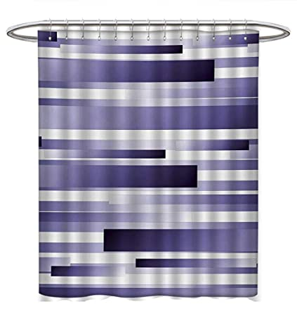 Anhuthree Striped Shower Curtains Digital Printing Shades Of Purple Inspired Fragmentary New Artful Abstract Pattern
