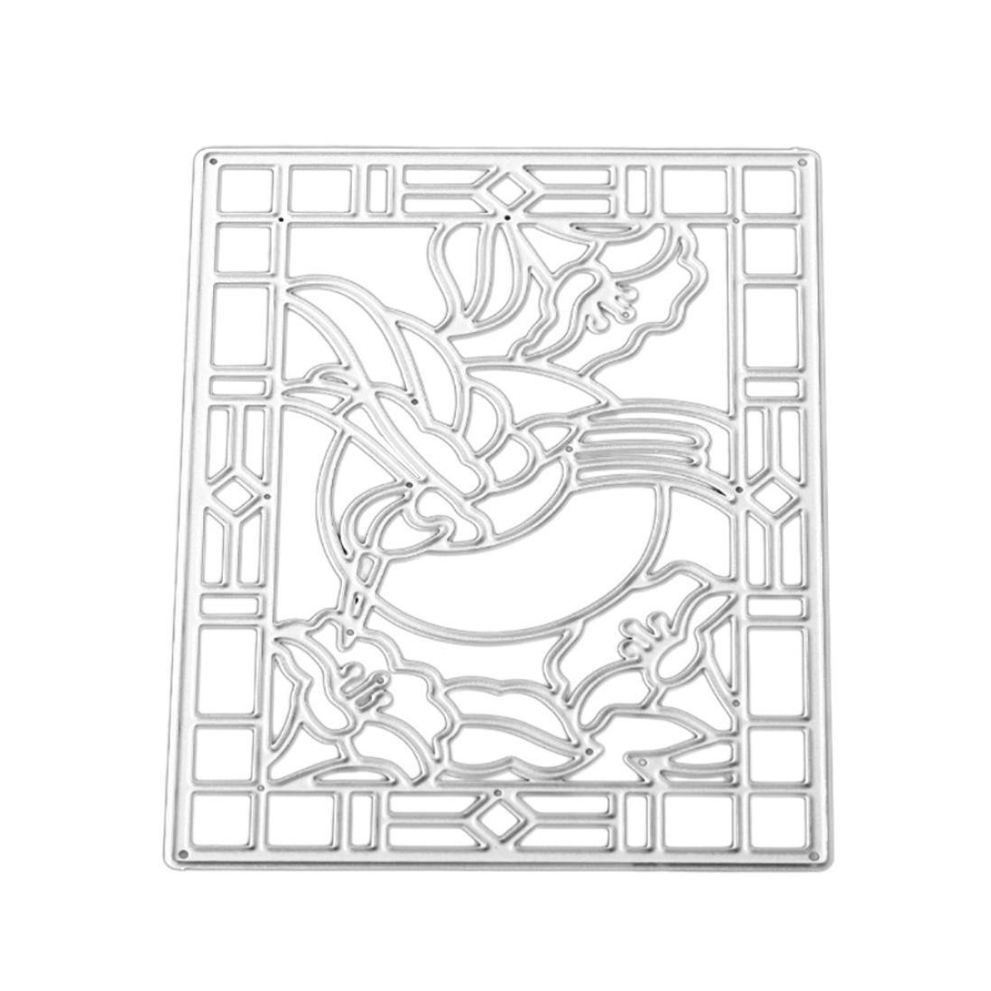 FNKDOR Fustellatrice Fustella Stencil DIY Album Stampo Metallo Segnalibro Taglio del Mestiere Goffratura Stampi Accessori per Big Shot e altre Fustellatrice macchina Fustelle per Scrapbooking A