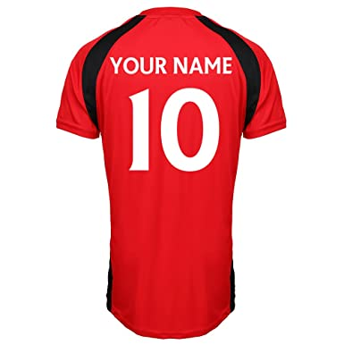 f72f79aaeb7 Manchester United Official Personalised Club Your Name Number Here Football  Soccer Training Top Adults Junior Children Kids England Birthday Custom  ...