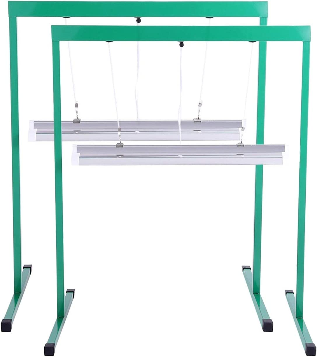 iPower 2-Pack 24W 2 Feet T5 Fluorescent Grow Light Stand Rack for Seed Starting Plant Growing, 6400K