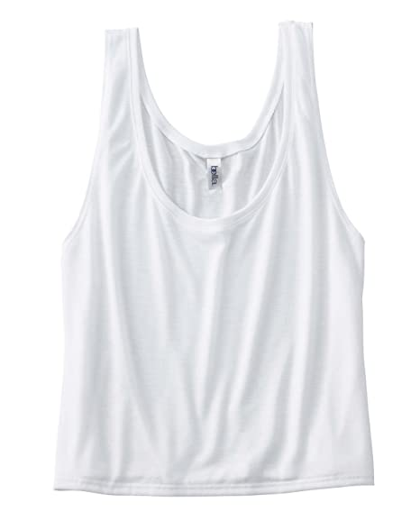 8aaa5e2d9b9bd Bella 8880 Ladies 3.7 oz. Boxy Tank-WHITE at Amazon Women s Clothing ...