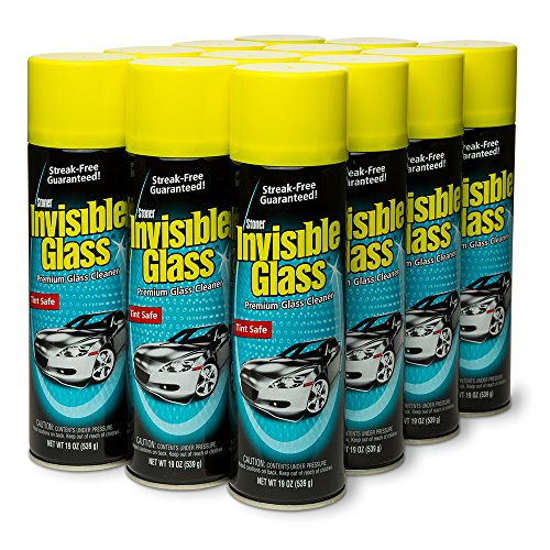 Invisible Glass 91164-12PK Premium Glass Cleaner 19-oz.Can,