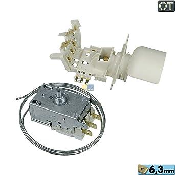 Termostato Ranco K59 de s2790/500 con casquillo a130700 WHP 481228238178