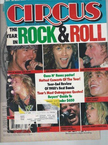 Circus Rock Magazine 31 December 1988 Guns n Roses Axl Slash Motley Crue Poison Metallica Cinderella Bon Jovi White Lion Vince Neil Joe Elliott (Circus Magazine)