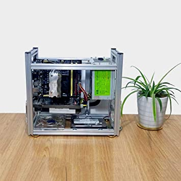 Amazon.com: Estuche de banco de plata para ordenador ITX ...