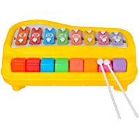 Zest 4 Toyz Kid's 2 In 1 Piano Xylophone Educational Musical Instruments, 8 Key Scales for Clear Tones with Music Cards Songbook (Multicolour)