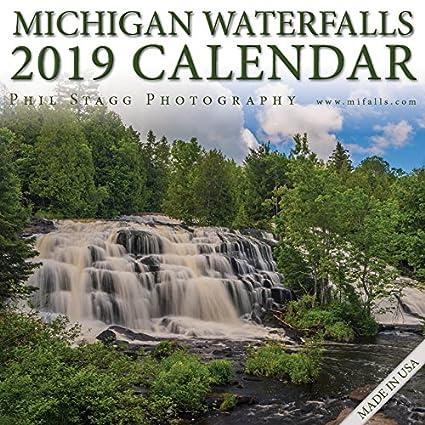 Amazon com : 2019 Michigan Waterfalls Wall Calendar 12 x 12 : Office