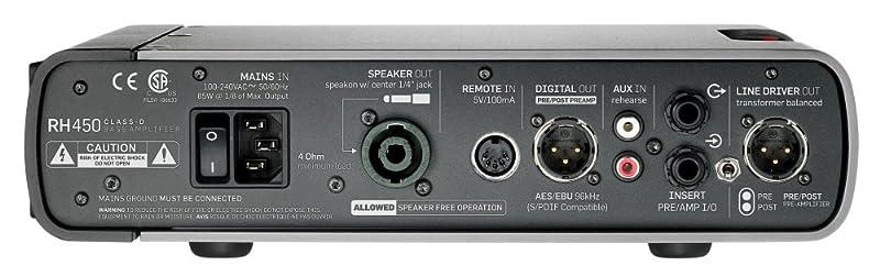 TC Electronic RH450:リアパネル