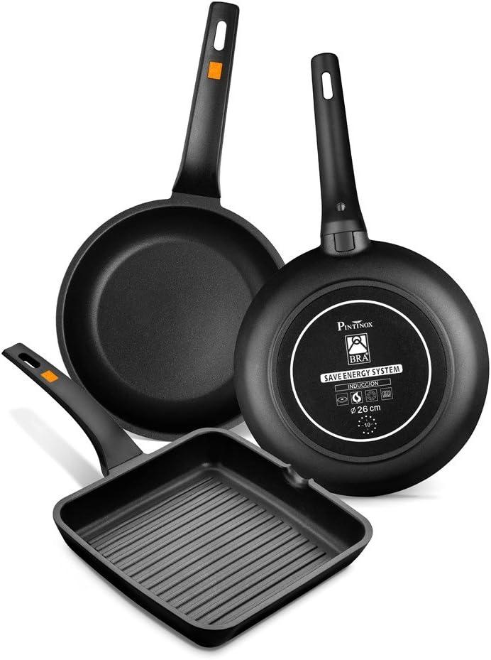 Rotex Bistecchiera Pintinox bra efficient grill manico piastra induzione 28 cm