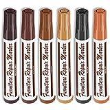 6 Pcs Wood Stain Markers Set - Furniture Restoration & Repair Marker Pens