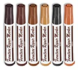6 Pcs Wood Stain Markers Set - Furniture Restoration & Repair Marker Pens
