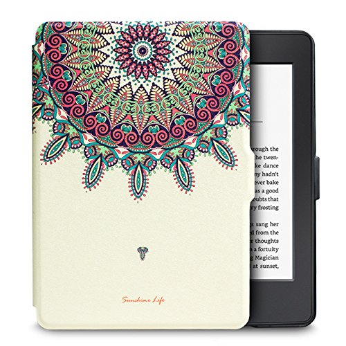WALNEW Amazon Kindle Paperwhite Case Lightest and Thinnest Premium Leather Smart Protective Cover for Kindle Paperwhite with Auto Wake/Sleep Function, Totem 1