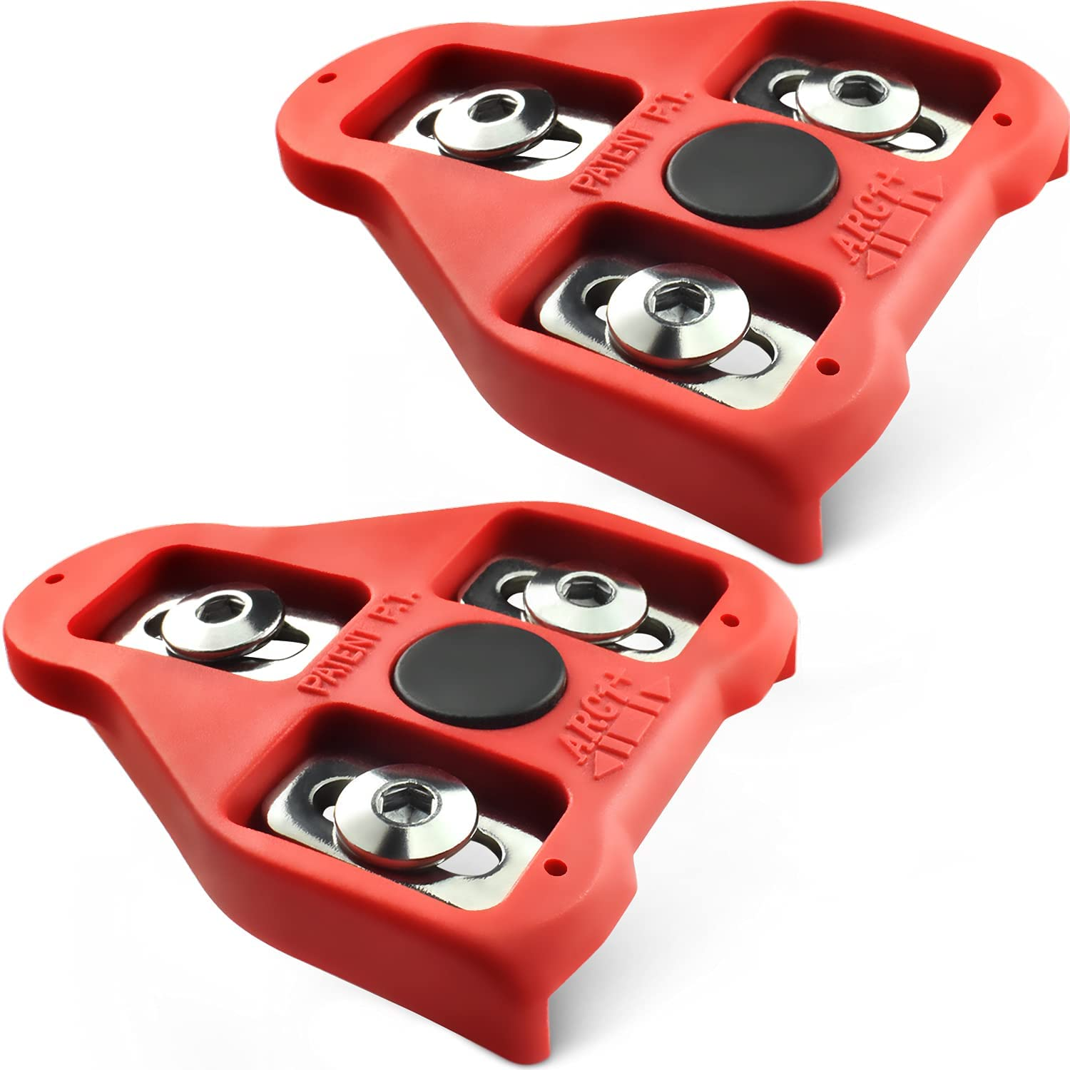 New VP Road Bike LOOK Delta Compatible 9 Degree Float Pedal Cleats Red