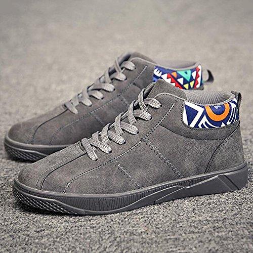 Men's Shoes Feifei Winter Fashion Personality Keep Warm Leisure Cotton Shoes 3 Colors (Color : Gray, Size : EU39/UK6/CN39)