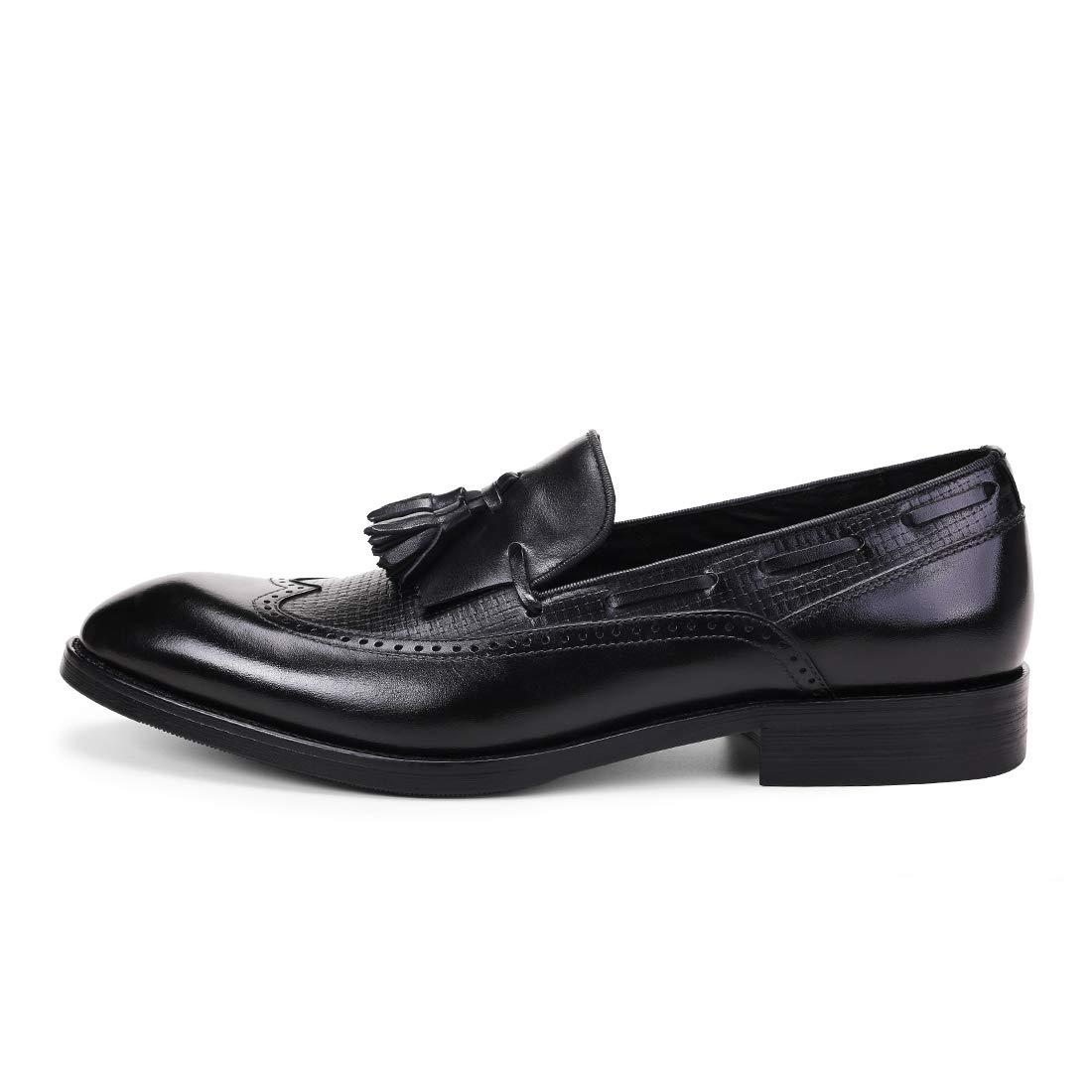 Scarpe Scarpe Scarpe da Lavoro Formale da Uomo Scarpe da Barca Scarpe Brogue Classiche Mocassini da Sposa con Punta e Nappine 497a6f