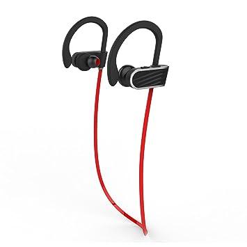 TOOGOO Mejores Auriculares Deportivos inalambricos w/Mic IPX7 Estereo HD Resistente al Agua para Correr