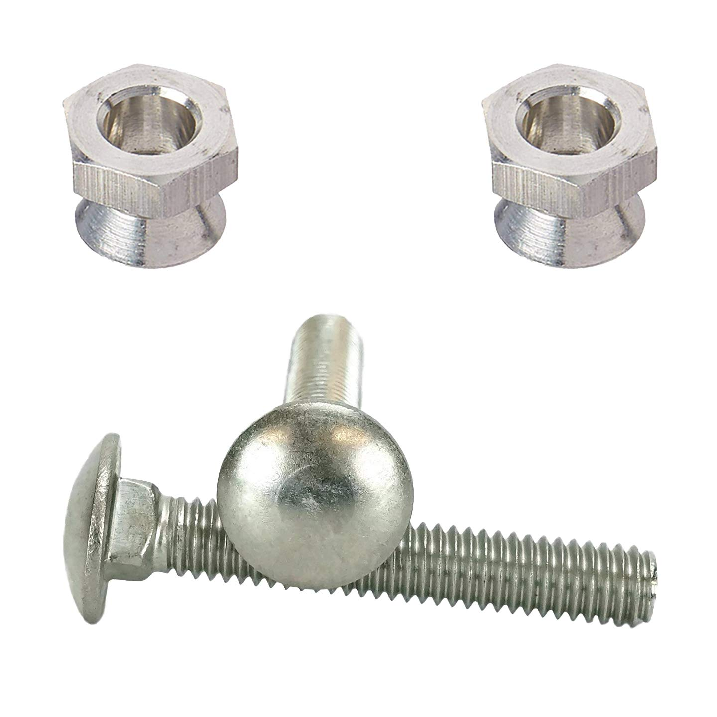 Sign Mounting Hardware Carriage Bolt with Security Nut 5//16-18 X 2 for U Channel Post County Solutions